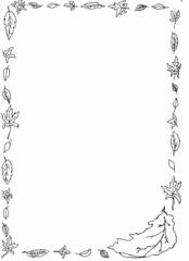 Schmuckblatt Herbst - Schmuckblatt, Herbst, Blätter, Laub, Rahmen