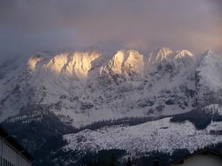 Sonne am Grimming - Abend, Gebirge, Grimming, Österreich, Alpen, Gipfel, Felsenwand