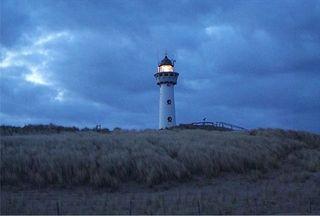 Leuchtturm - Leuchtturm, Signal, leuchten, Schifffahrt, Signalfeuer, blau, Morgen, Dämmerung, Düne, Nordsee