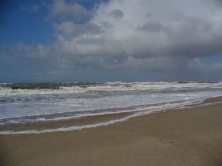 Am Meer - Sylt, Westerland, Nordsee, Wasser, Meer, Wellen, Himmel, Wolken, Strand, Weite, Meditation