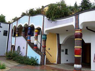 Therme Bad Blumau 4 - Hundertwasser, Bad Blumau, Therme, Säule, Säulen, Hotel