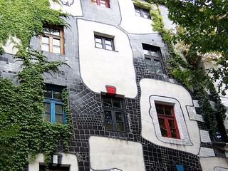 Kunsthaus Wien - Hundertwasser, Kunsthaus Wien, Fenster, Fensterrecht, Wien, Gebäude