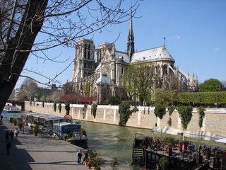 Notre-Dame - Dom, Stadt, Paris, Kirche, Architektur, Gotik, Nacht, Wahrzeichen, Frankreich, France, Seine, Hausboot, Geographie, Französisch