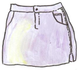Minirock - Minirock, mini skirt, minijupe, clothes, Kleidung, vêtements, Rock, kurz, Mode, modisch, Trend, Modetrend, Anlaut R, Wörter mit ck