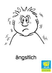 Gefühle #1 - Gefühl, Gefühlsausdruck, Gesichtsausdruck, Emotion, Empfindung, Stimmung, Gespür, empfinden, Gemütsbewegung, Spürsinn, ängstlich, bang, verängstigt, Furcht, Panik, Schreck, Unruhe, ängstigen, schreckhaft, furchtsam, scheu, Grausen, Horror, Bangigkeit, Beunruhigung, fürchten, Angst haben, beben, schaudern, bibbern, unsicher, zittrig, aufgeregt, zittern, Adjektiv