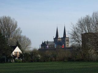 Xantener Dom - Landschaft, Kirche, Xantener Dom, Xanten