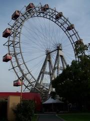 Wien Prater - altes Riesenrad - Wien, Prater, Riesenrad, Wahrzeichen, Kreis, Durchmesser, Radius, Weltausstellung