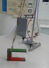 Leiterschaukelexperiment #1 - Physik, Induktion, Leiterschaukel, Magnet, Hufeisenmagnet