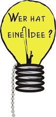 Glühbirne - Glühbirne, Idee, gelb, Licht, Einfall, Illustration
