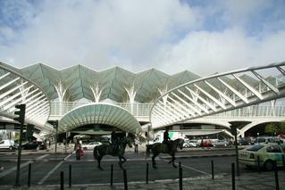 Bahnhof Oriente  Lissabon - Bahnhof, Expo, Konstruktion, Dachkonstruktion, Gare do Oriente, Ostbahnhof, Lissabon