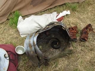 Römische Ausrüstungsgegenstände - Ausrüstung, Helm, Rom, Römer, Römerkohorte, Bad Dürkheim, Gegenstände