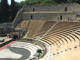Römisches Theater - Italien, Römer, Pompeji, Vesuv, Theater, Sitzreihen, Antike, alt