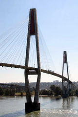 Sky-Brigde - Vancouver, Sky-Brigde, Himmelsbrücke, Schrägseilbrücke, Translink, Sky Train, Expo Line