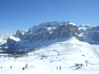 Sellamassif in Südtirol - Italien, Berg, Berge, Sella, Dolomiten, Südtirol, Winter, Schnee