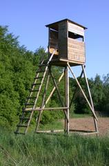 Hochsitz - Hochsitz, Jagd, Wild, Wildpflege, Leiter, Verstrebung, Stabilität, Holzbau, Ansitz