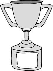 Pokal (Graustufen) - Sieger, erster Platz, Urkunde, Gewinner, Trophäe, Wettkampf, Gewinner, gewinnen, Auszeichnung, Preis, Anlaut P