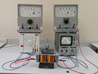 Unbelasteter Transformator - Trafo, Transformator, Physik, Spule, Spulen, Messgerät, unbelastet