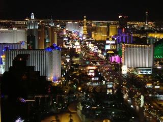 erleuchtete Nacht  - Stadt, Dunkel, Licht, Las Vegas, Nacht