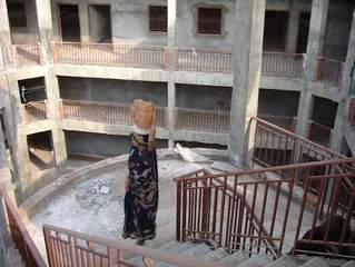 Baustelle in Indien - Hausbau, Frauenarbeit, Frau, Indien, Baustelle