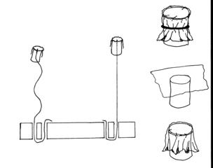 Bauanleitung Modell zur Federung der Wirbelsäule - Wirbelsäule, Modell