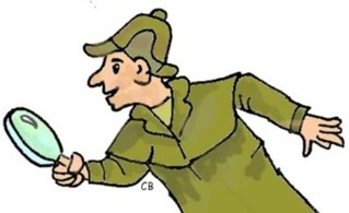 Detektiv - Detektiv, Sherlock Holmes, Lupe, Ermittler, ermitteln, suchen