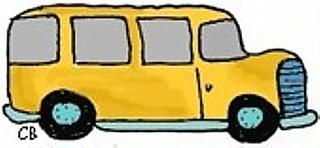 Schulbus - Bus, Transport, Schule, Fahrzeug, Schulbus, Schülerbeförderung, Schulweg, Schülerverkehr, Anlaut B