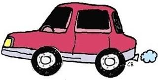 Auto - Auto, Cartoon, Transport, Automobil, Kraftwagen, Kraftfahrzeug, Beförderung, mehrspurig, Anlaut Au, Illustration
