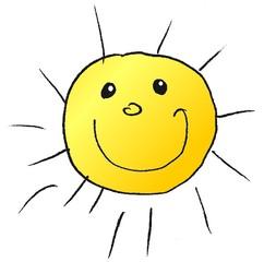 Sonne - Natur, Sonne, Wetter, Himmel, strahlen, hell, Licht, leuchten, heiß, Anlaut S, Illustration, Wörter mit Doppelkonsonanten