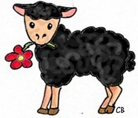 schwarzes Schaf - Schaf, Illustration, Nutztier, Wolle, schwarzes Schaf, Sonderling, Einzelgänger, Anlaut Sch