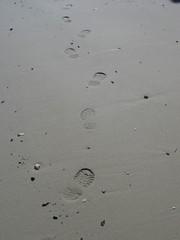 Fußabdrücke - Spuren, Sand, Abdrücke, Fussspuren, Schreibanlass