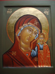 Gottesmutter - Religion, Gottesmutter, Ikone, Maria, russisch-orthodox, Kazanskaja, Roter Platz, Moskau, Staatsikone