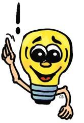 Glühbirne - Glühbirne, Idee, Gedanke, Einfall, Comic, Haushalt, Erleuchtung, Elektrizität, Strom, Energie