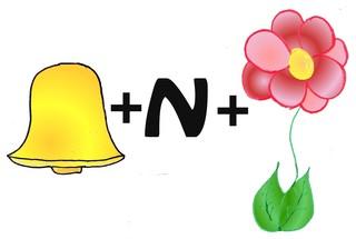 Rebus Glockenblume - Rätsel, Raten, Natur, Umwelt, Flora, Blumen, Pflanzen, Glockenblume, Biologie, Rebus, Bilderrätsel