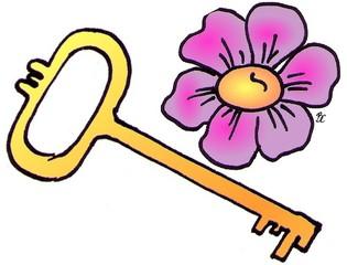 Rebus Schlüsselblume - Rätsel, Raten, Natur, Umwelt, Flora, Blumen, Pflanzen, Schlüsselblume, Biologie, Rebus, Bilderrätsel