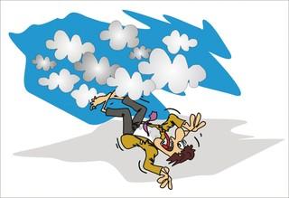 Sprichwörter - bildlich dargestellt - Sprichwort, Redewendung, Umgangssprache, bildlich, Wolke, fallen