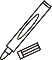Filzstift - Filzstift, Filzstifte, Einzahl, Filzer, Stift, malen, ausmalen, zeichnen, Anlaut St