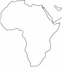 Afrika Umriss - Afrika, Karte, Umriss, Outline, Topographie, blanko, map