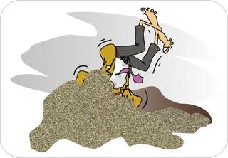 Sprichwörter - bildlich dargestellt - Sprichwort, Redewendung, Umgangssprache, bildlich, Kopf, Sand, stecken