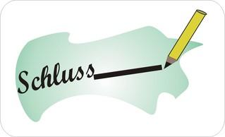Sprichwörter - bildlich dargestellt - Sprichwort, Redewendung, Umgangssprache, bildlich, Schluss, Strich, ziehen