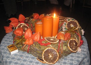 Adventskranz - Advent, Weihnachten, Kerzen, Brauchtum, Licht, Kranz, brennen, drei, Kerze, Kerzen, Adventsschmuck
