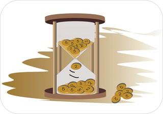 Sprichwörter - bildlich dargestellt - Sprichwort, Redewendung, Umgangssprache, bildlich, Zeit, Geld