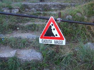 Caduta massi - massi, caduta massi, Warnung, Italien, italienisch