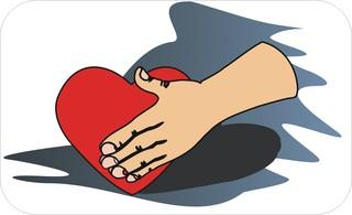 Sprichwörter - bildlich dargestellt - Sprichwort, Redewendung, Umgangssprache, bildlich, Hand, Herz