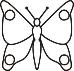 Schmetterling - Schmetterling, fliegen, Falter, Anlaut Sch, Illustration, Symmetrie