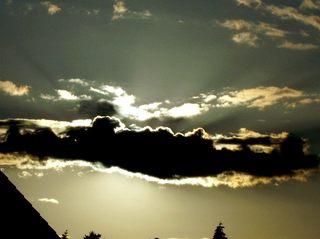 Sonne hinter der Wolke - Abendstimmung, Sonne, Wolke