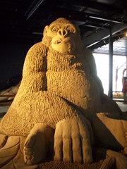 Sandfigur - Sand, Affe, Tier, Formen, Skulptur, Plastik, Mimik