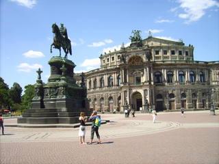 Semperoper im Sonnenschein - Semperoper, Dresden, Sachsen, August der Starke, Erdkunde, Geschichte, Musik, Architektur