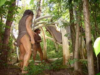 Neandertaler - Neandertaler, Mammut, Stoßzähne, Zelt, Altsteinzeit