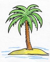 Palme - Palme, Insel, Baum