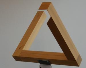 Optische Täuschung  - Dreieck #1 - perspektivische Darstellung, Perspektive, Blickwinkel